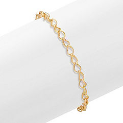14k Yellow Gold Twist Link Bracelet (7.25 in.)