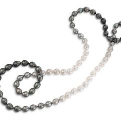 9-10mm Cultured South Sea and Tahitian Pearl Strand (36)