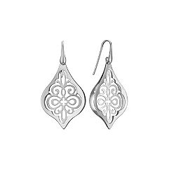 Vintage Cut Out Sterling Silver Earrings