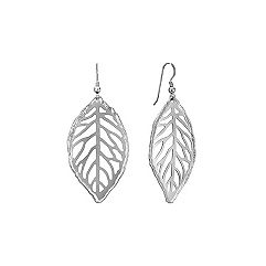 Leaf Sterling Silver Earrings