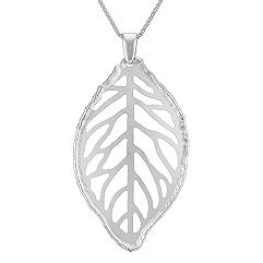 Leaf Pendant in Sterling Silver (18 in.)