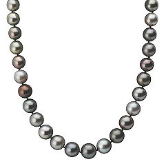 9-12mm Multi-Colored Cultured Tahitian Pearl Strand (18 in.)