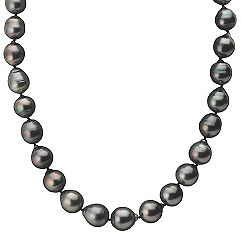 11-12.5mm Multi-Colored Cultured Tahitian Strand with Sterling Silver Clasp (18 in.)