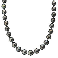 10-12mm Multi-Colored Cultured Tahitian Pearl Strand with Sterling Silver Clasp (18)