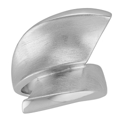 Swiftly Curved Sterling Silver Ring