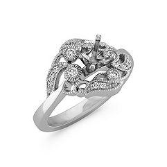 Swirl Floral Diamond Ring