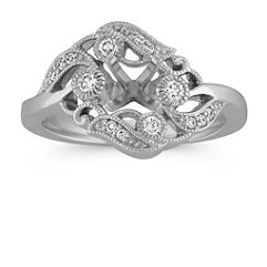 Swirl Floral Diamond Ring