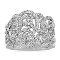 Twist and Twirl Diamond Ring