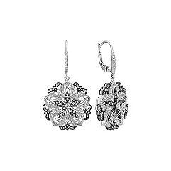 Star Diamond Earrings with Black Rhodium