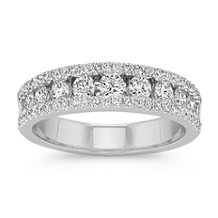 Multi-Sized Round Diamond Channel Set Wedding Band