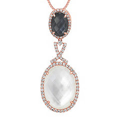 Multiple Duet Diamond Pendant (18 in.)