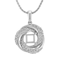 Diamond Spiral Pendant (22 in.)