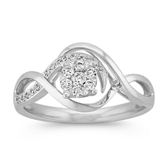 Diamond Cluster Infinity Ring
