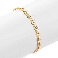 Eight Stone Round Diamond Bracelet  in Yellow Gold (7)