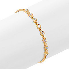 Eight Stone Round Diamond Bracelet in Yellow Gold (7 in.)