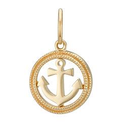 14k Yellow Gold Anchor Charm