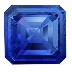 Asscher Sapphires