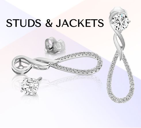 Solitaire Earrings & Jackets