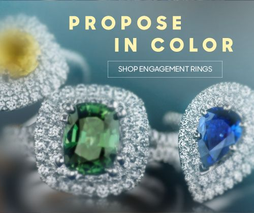 Propose in color - shop engagement rings.