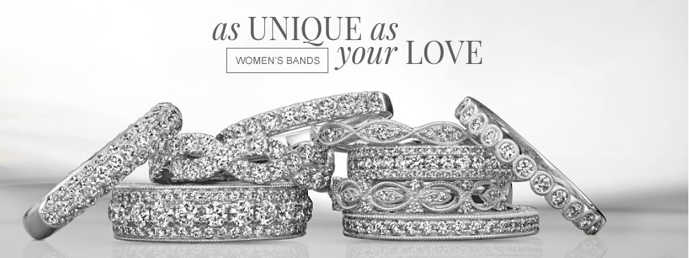 As unique as your love. Shop women's bands.