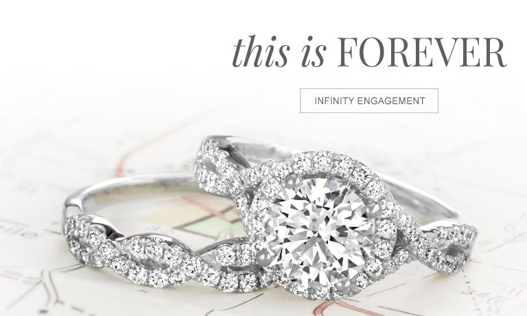 This is forever. Shop infinity engagement.