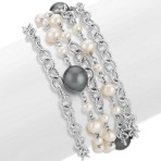 4-10mm Cultured Freshwater and Tahitian Pearl Bracelet (8)