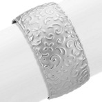 Patterned Cuff Bracelet in Sterling Silver