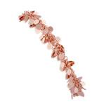 Rose Sterling Silver Confetti Bracelet (7.5)