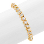 Round Diamond Tennis Bracelet in Yellow Gold (7)