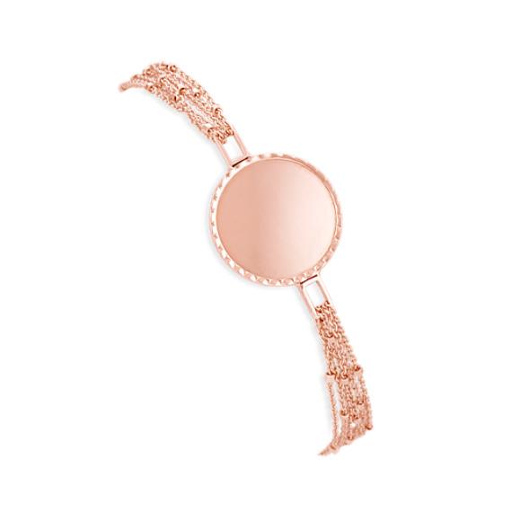 "14k Rose Gold Capri Bracelet (7.5"")"