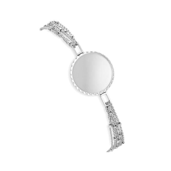 14k White Gold Capri Bracelet (7.5)