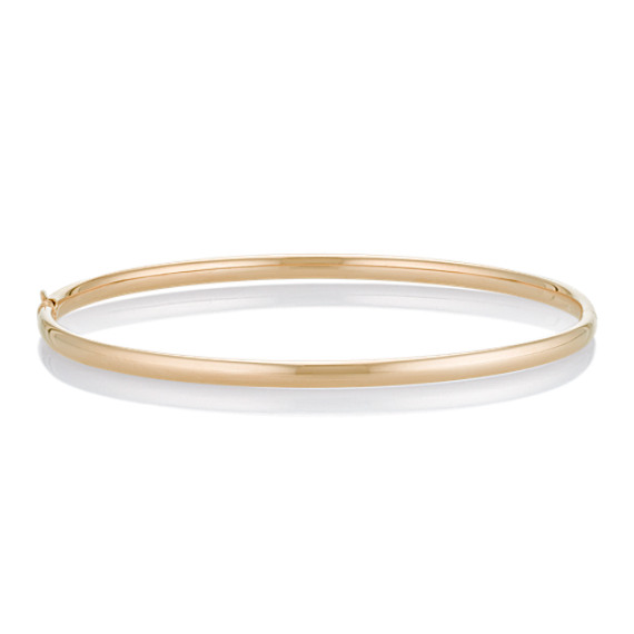 "14k Yellow Gold Bangle Bracelet (7"")"