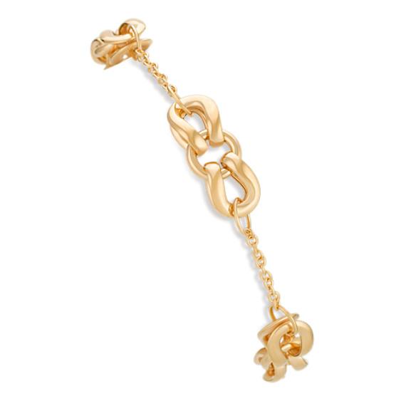 "14k Yellow Gold Knot Bracelet (7.5"")"