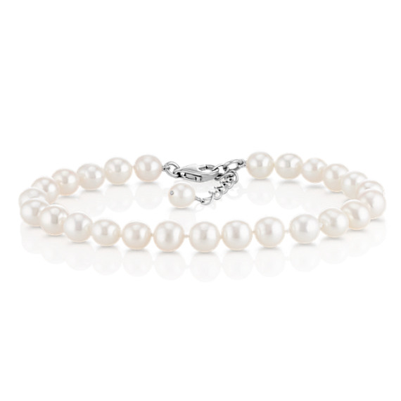 "6.5mm Cultured Freshwater Pearl Bracelet (7.5"")"