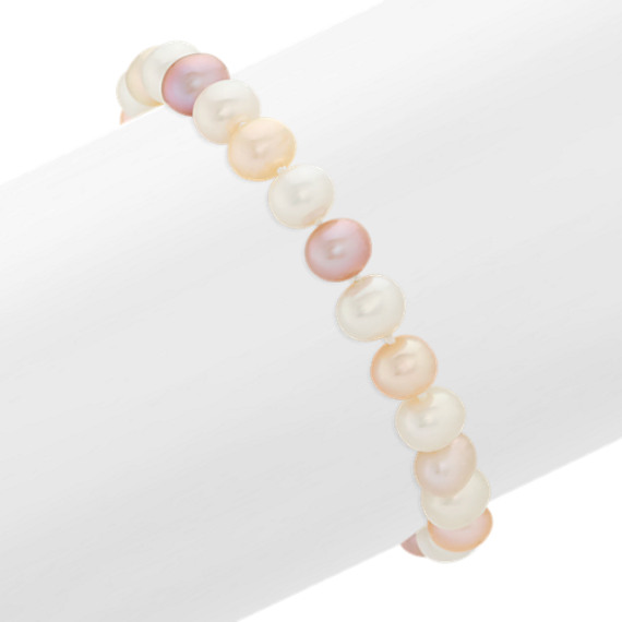 6mm Multi-Colored Cultured Freshwater Pearl Bracelet (7)
