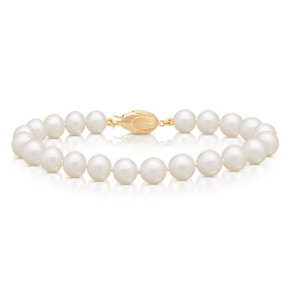 "7mm Cultured Akoya Pearl Bracelet (7"")"