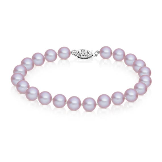 7mm Lavender Cultured Freshwater Pearl Bracelet (7)