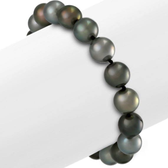 9mm Multi-Colored Cultured Tahitian Pearl Bracelet (7.5)