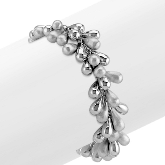 "Beaded Sterling Silver Bracelet (8"")"