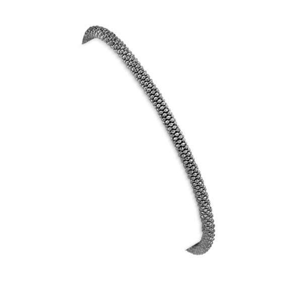 """Black Sterling Silver Bracelet (7.5"""")"""