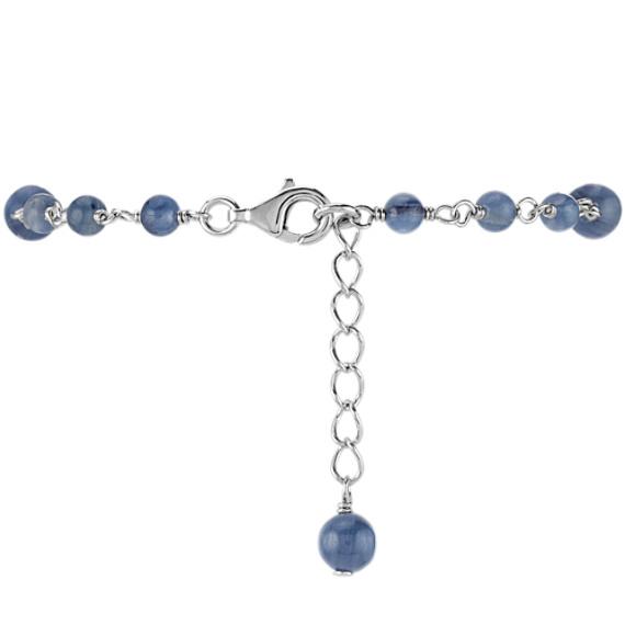 "Blue Kyanite Bracelet in Sterling Silver (7.5"")"