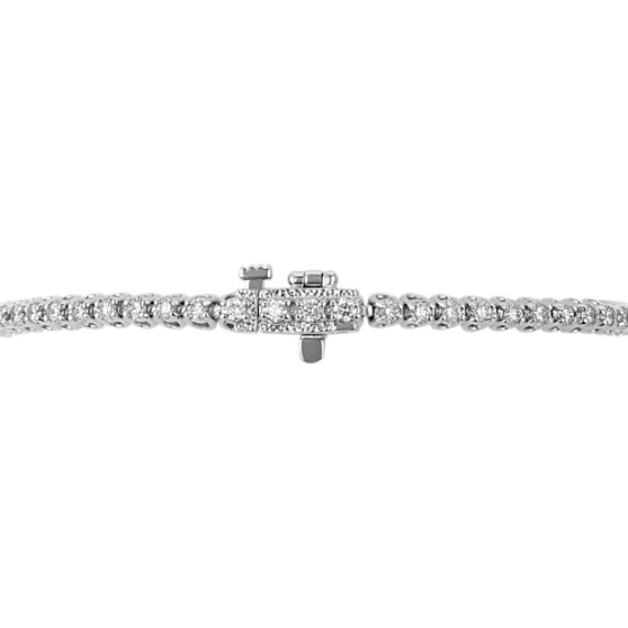 "Classic Diamond Tennis Bracelet in 14k White Gold (7"")"
