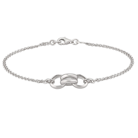Contemporary Sterling Silver Bracelet (7.5)