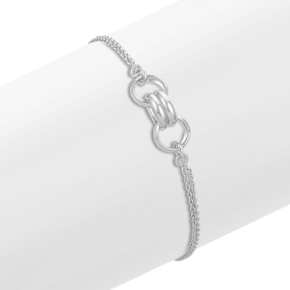 "Contemporary Sterling Silver Bracelet (7.5"")"