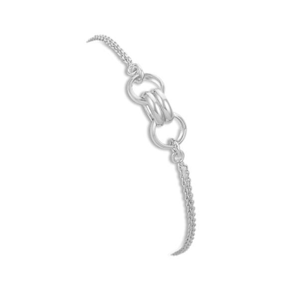 Contemporary Sterling Silver Bracelet (7.5)