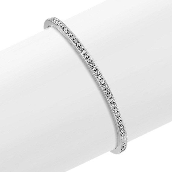 "Diamond Bangle Bracelet (7"")"