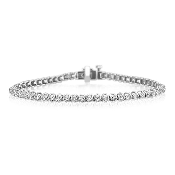 "Diamond Tennis Bracelet in 14k White Gold (7"")"