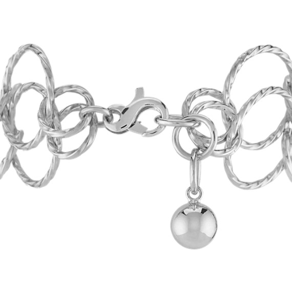 Double Sterling Silver Circle Bracelet (8)