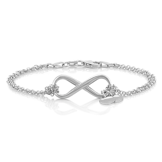 Engravable Infinity Bracelet in Sterling Silver (7.5)