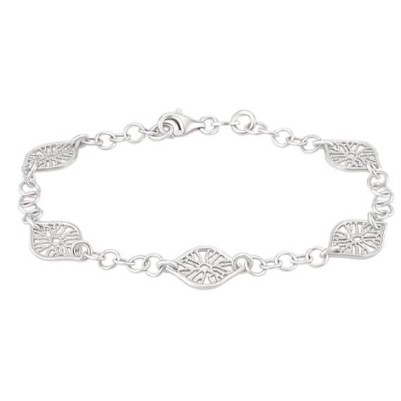 Engraved Sterling Silver Bracelet (7.5)